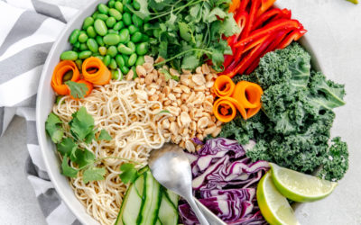 Brown Rice Noodles With Peanut Sauce (Recipe Download)
