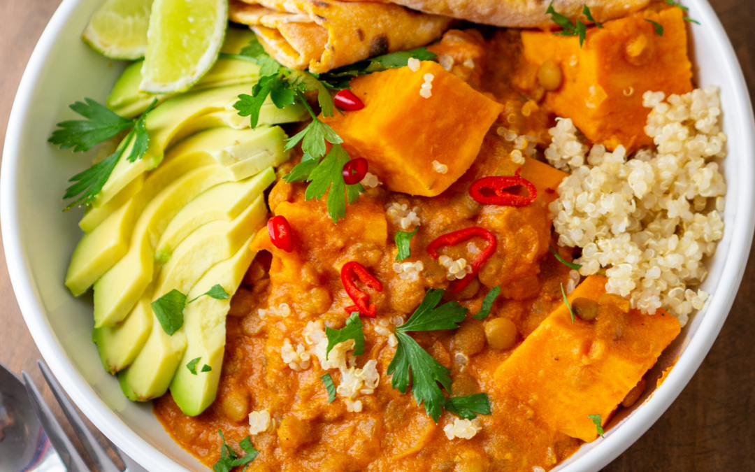 Thai Cauliflower & Sweet Potato Curry (Recipe Download)